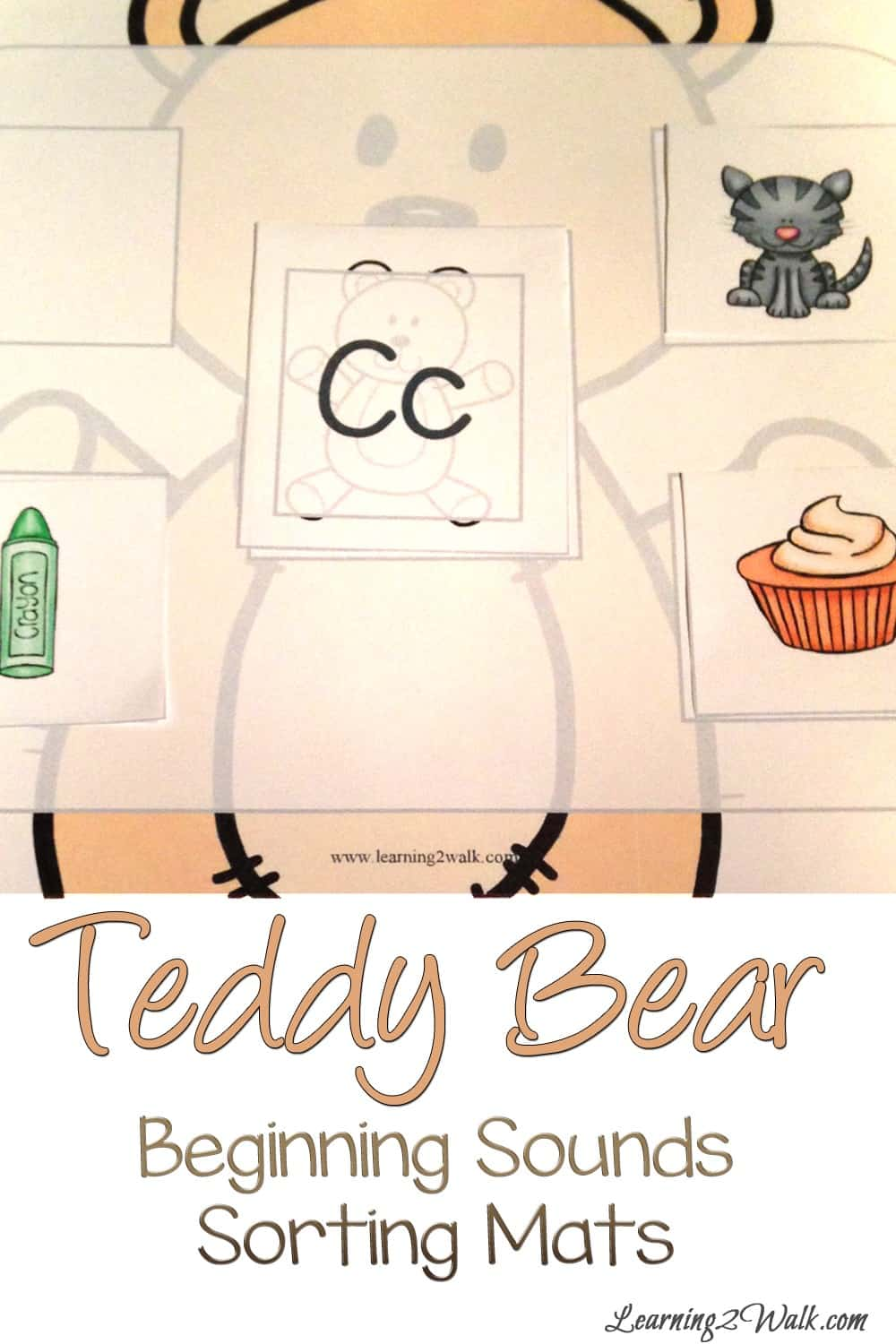 These teddy bear beginning sounds activities sorting mats are sure to be a a hit with your kids.