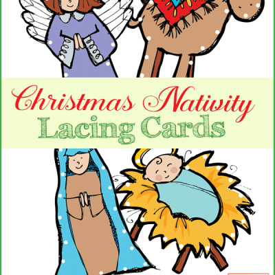 Christmas Lacing Cards for Fine Motor Skills