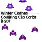 Welcome winter with these winter clothes counting clip cards