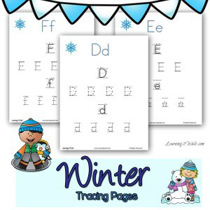 These cute winter tracing pages are sure to help your child with their preschool letter writing.