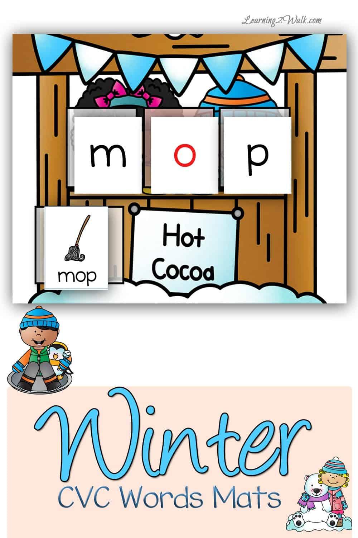Winter CVC Words Worksheets