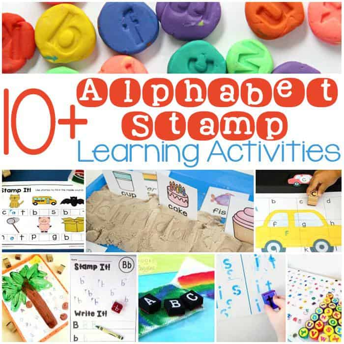 I am convinced that to make any preschool letter activity fun for my kids all i have to do is add stamps as well as cars