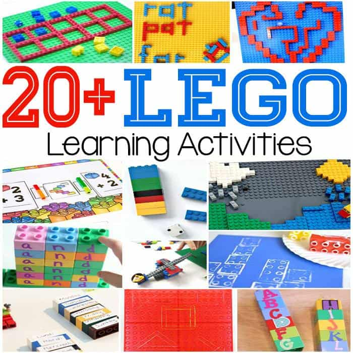 I love that I have so many options with these lego learning activities.