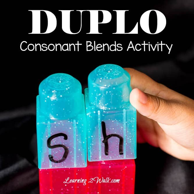I love creating hands on games for my kids and this duplo consonant blends activity was no exception as my daughter loved it