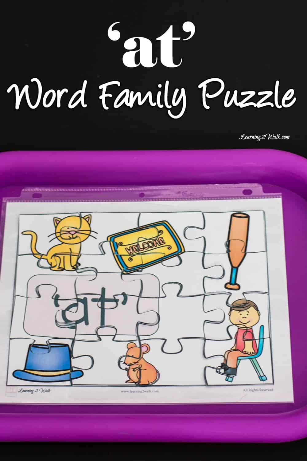 'At' Word Family Puzzle