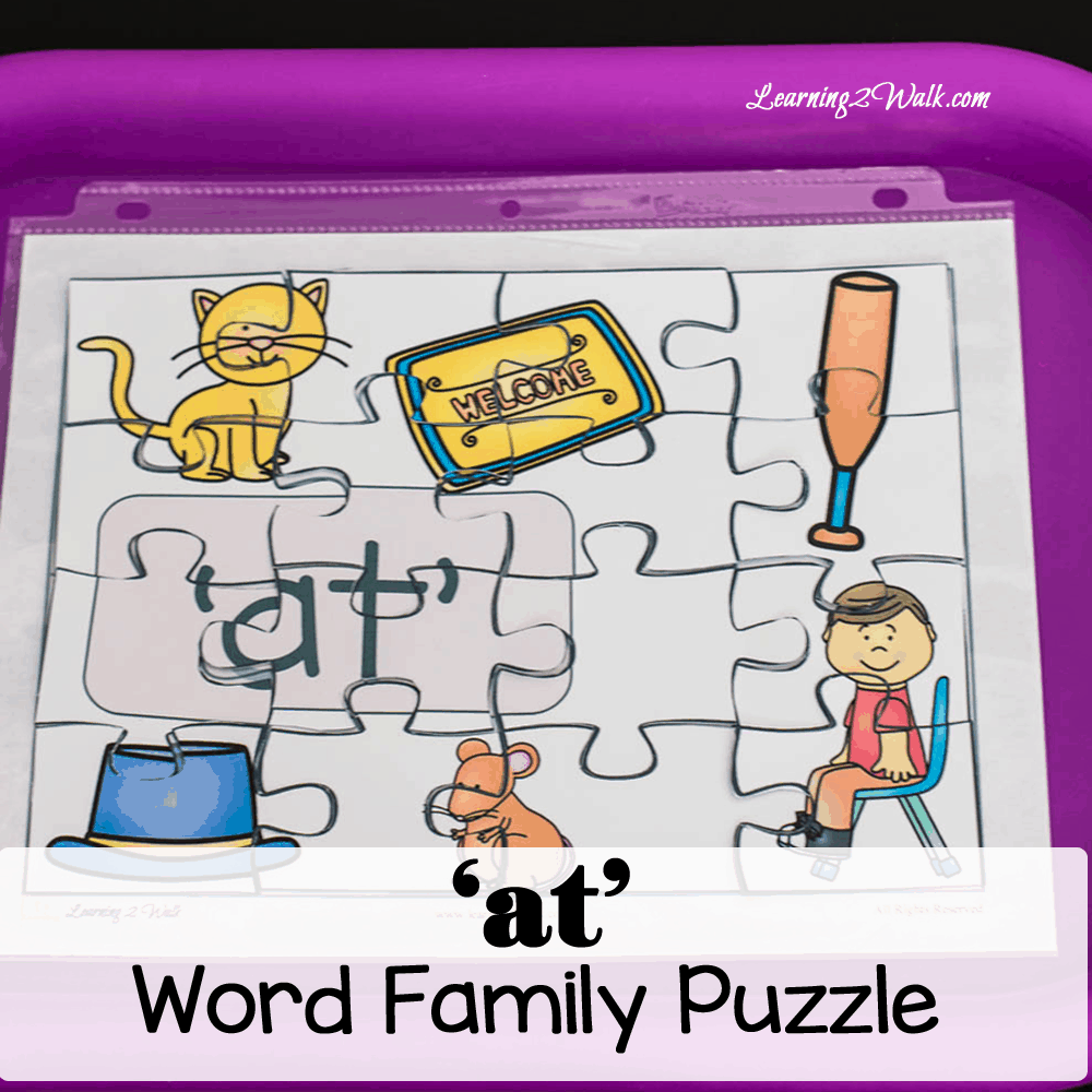 These at word family worksheets puzzle was just what my daughter needed as a fun word family activity too