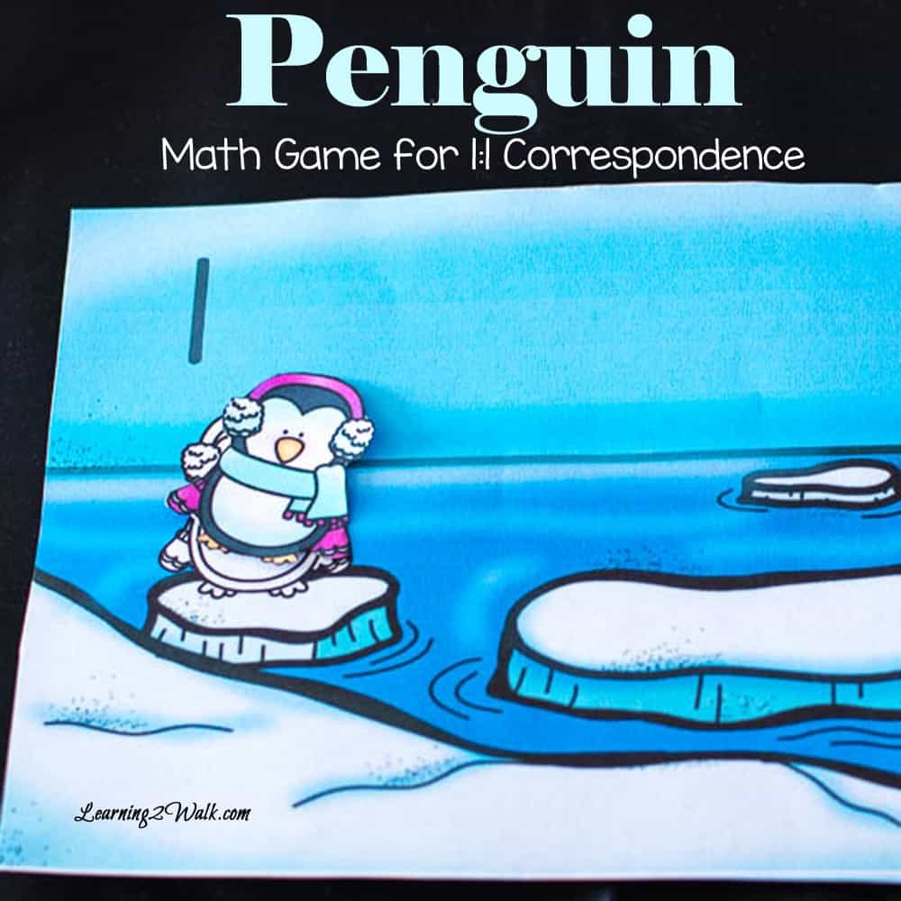 Using the glue seems to be a huge hit with my son and because of this our penguin math game for one to one correspondence was successful