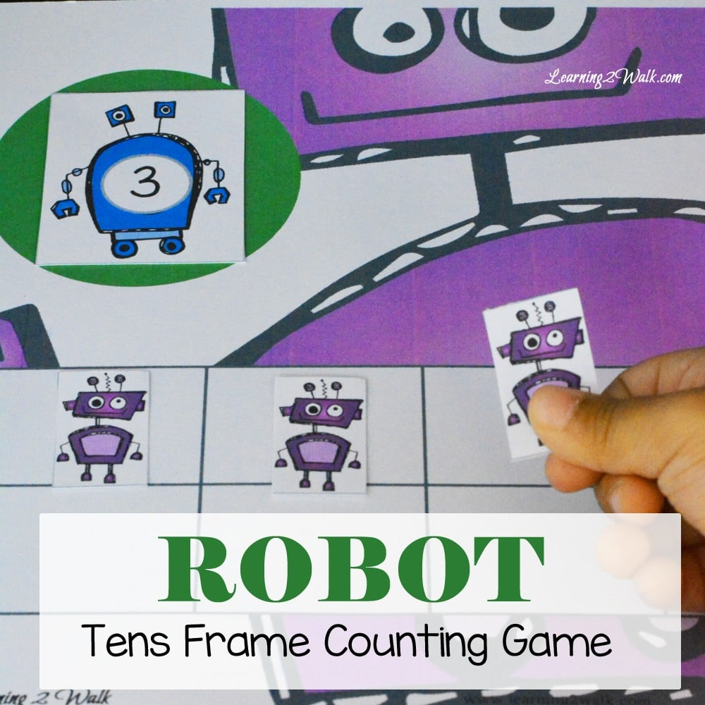 Our Robot Kindergarten Math Activities- Tens Frame Counting game was a huge success