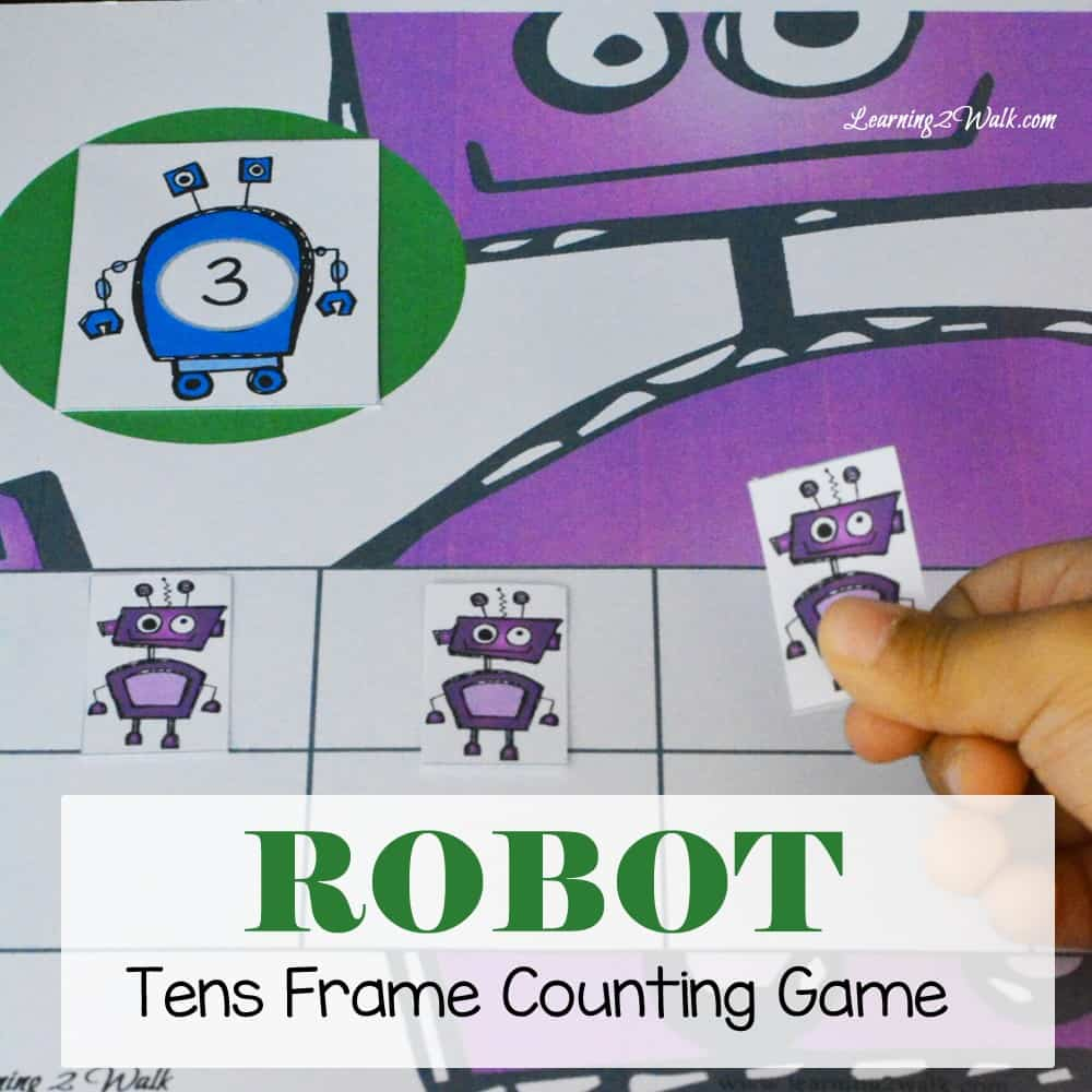 Our Robot Kindergarten Math Tens Frame Counting game was a huge success