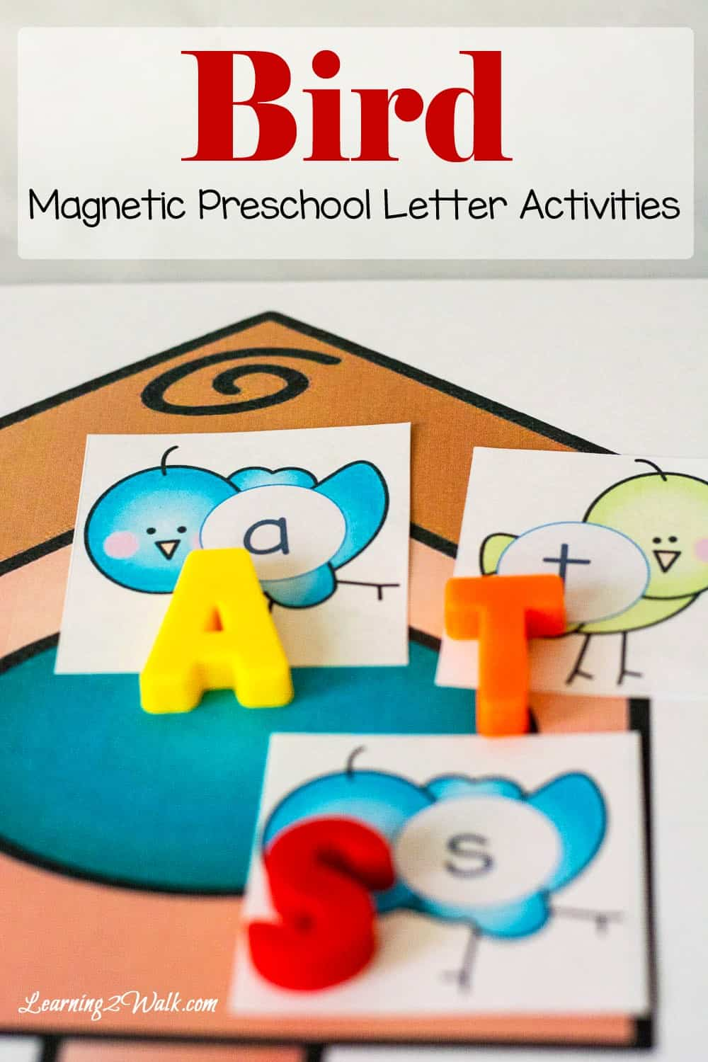 Grab your magnetic letters and use these super cute bird preschool letter activities cards to help your kids work on letter recognition