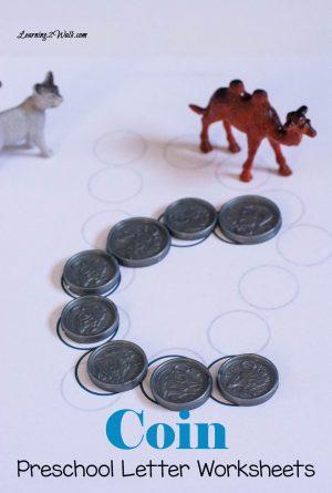 Coin Preschool Letter Worksheets