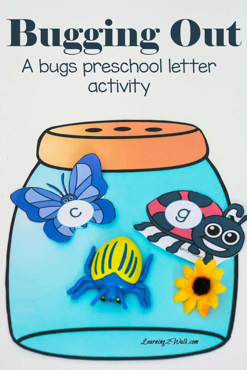 A Bug Preschool Letter Activity- Bugging Out