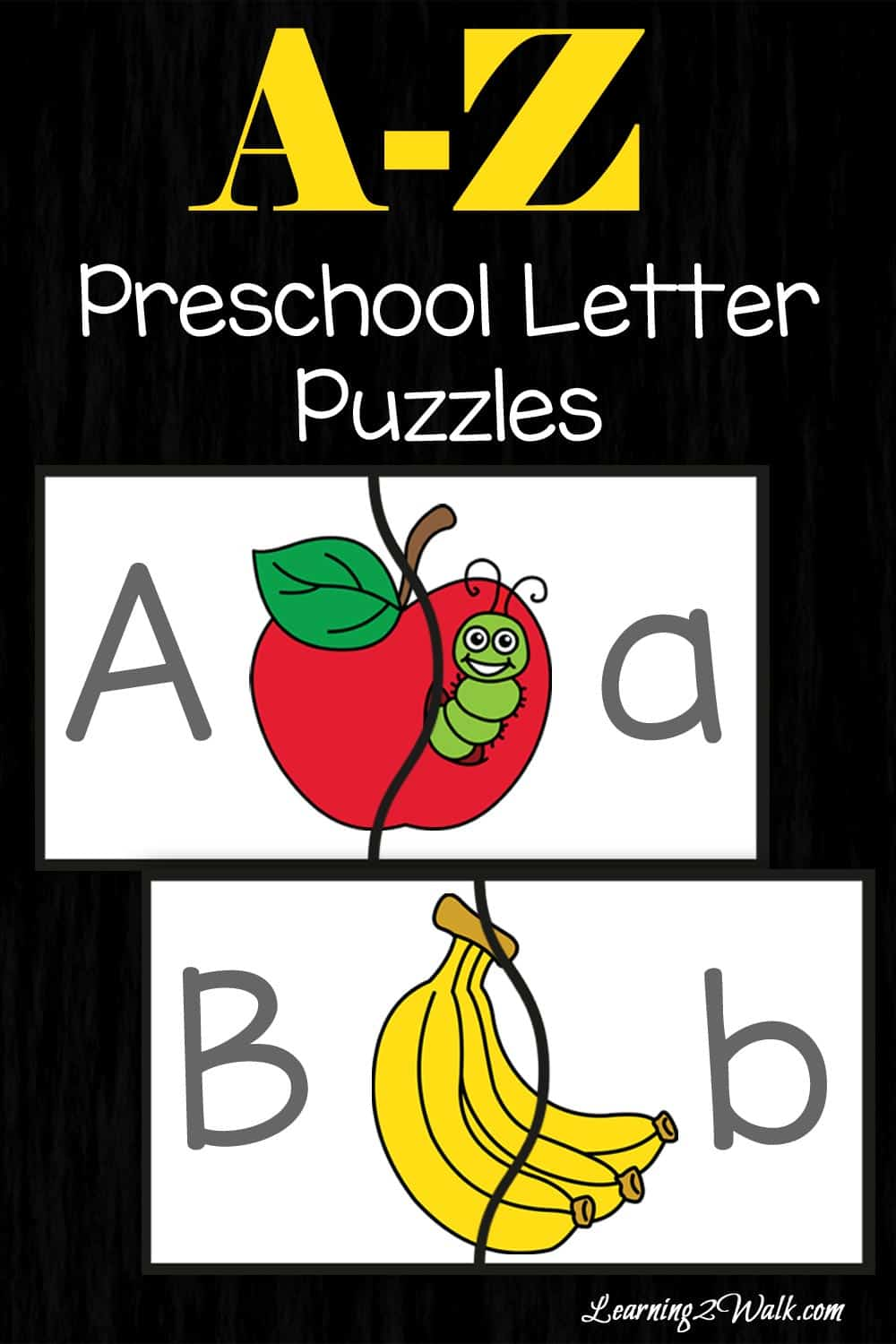 These preschool letter puzzles are just what my son needed to work on his alphabet recognition as well as a few fine motor skills