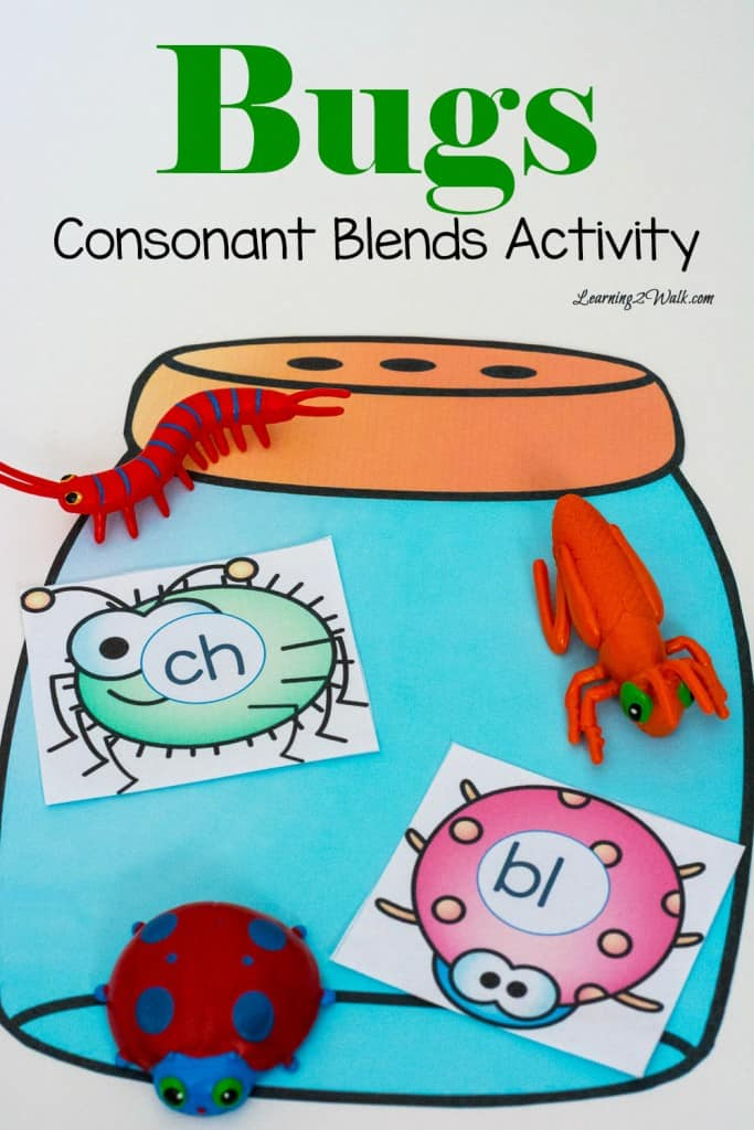 This bugs consonant blends activity was so much fun all we had to do was print cut and play