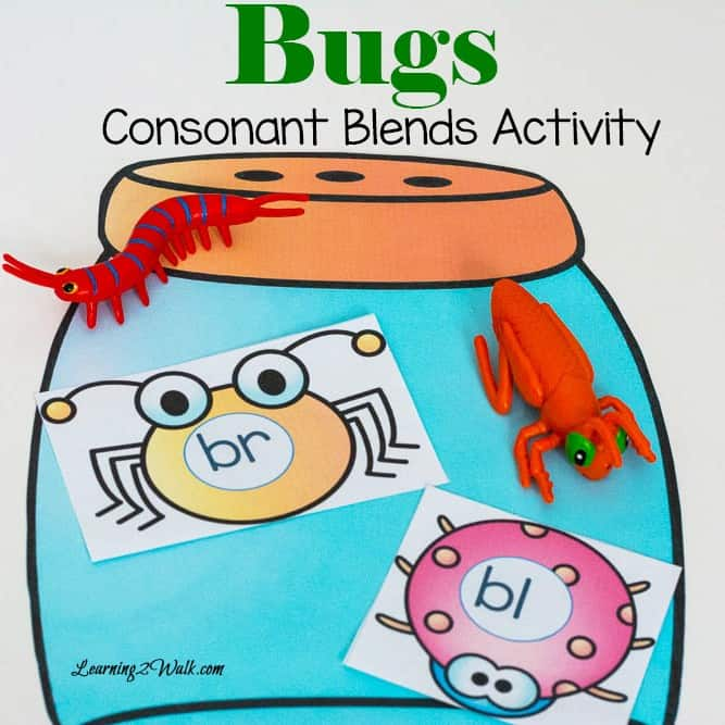 This bugs consonant blends activity was so much fun all we had to do was print cut and play!