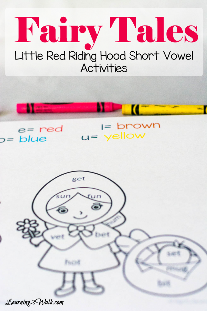 We are currently working on identifying short vowels in our reading and these cute fairy tales short vowels activities for Little Red Riding Hood are just what we needed- color by short vowels