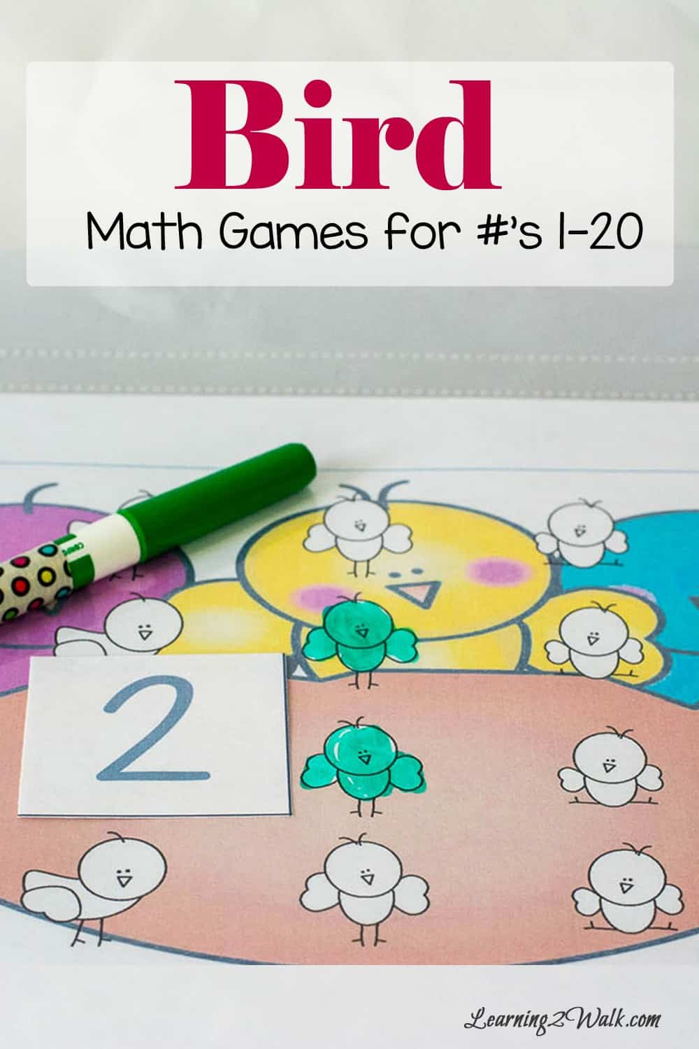 Who knew that using a dry erase marker, a few number cards and a bird theme could be the perfect combo for our bird math games? We had so much fun working on counting