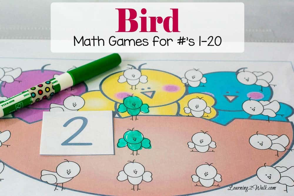 Who knew that using a dry erase marker, a few number cards and a bird theme could be the perfect combo for our bird fun kids math games? We had so much fun working on counting