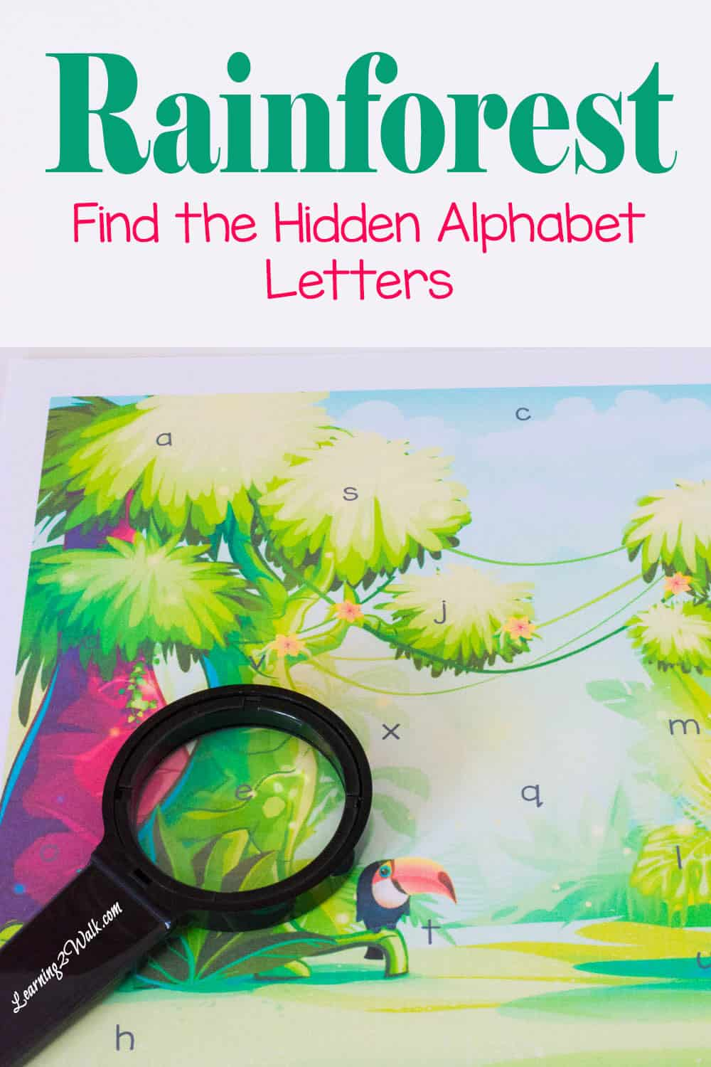 Find the Hidden Preschool Letters- Rainforest Alphabet Game