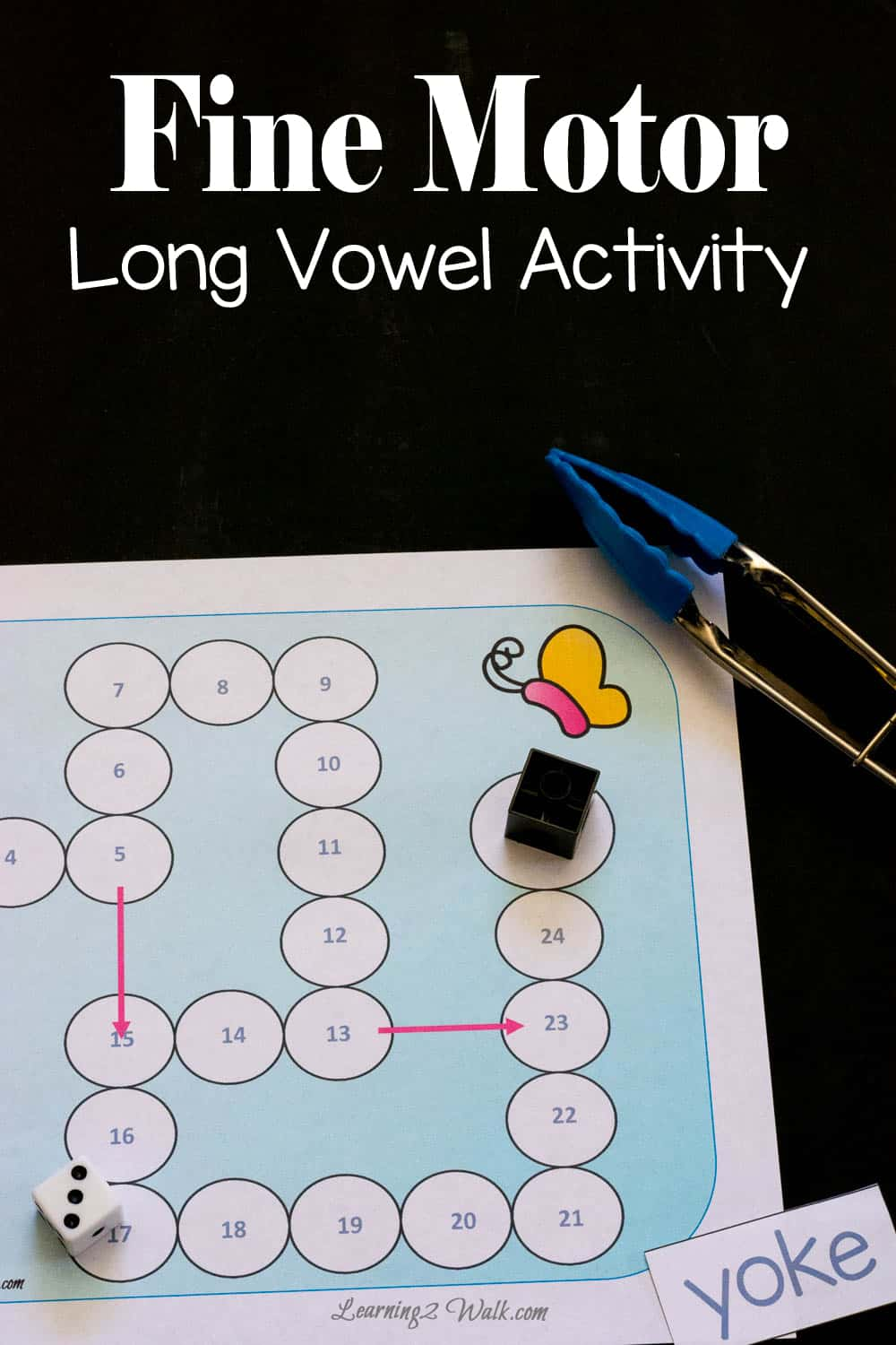Fine Motor Long Vowel Activity