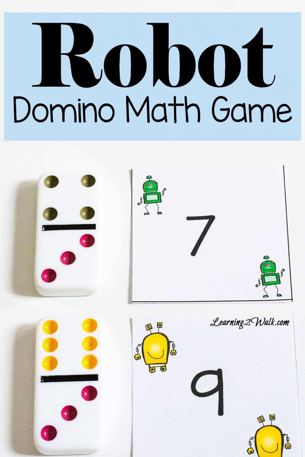 robot domino math game for number recognition play this fun robot domino math game to help subsitizing as well as number recognition