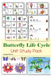 Use this fun Butterfly Life Cycle Unit Pack to work on alphabet recognition, counting, addition, consonant blends and more. Its an awesome addition to your butterfly life cycle crafts and activities for preschool and kindergarten.