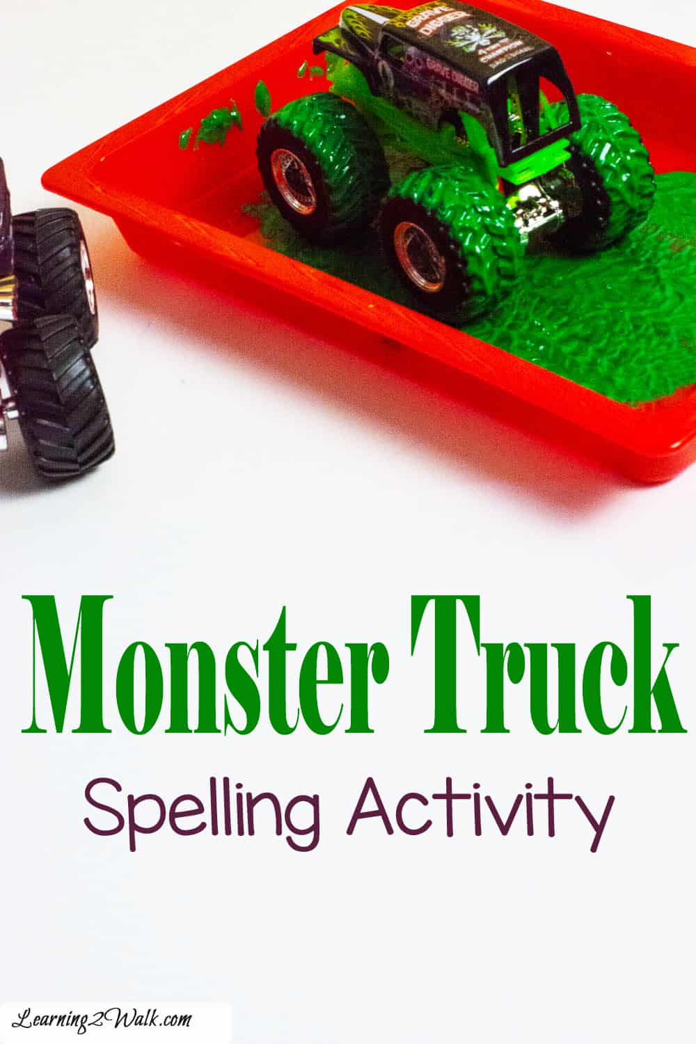 Monster truck spelling practice is a guaranteed fun way to practice spelling words