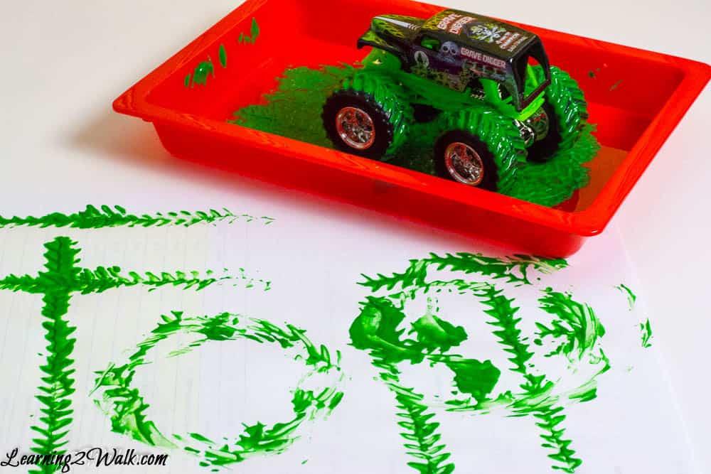 Monster truck spelling practice is a guaranteed fun way to practice spelling words