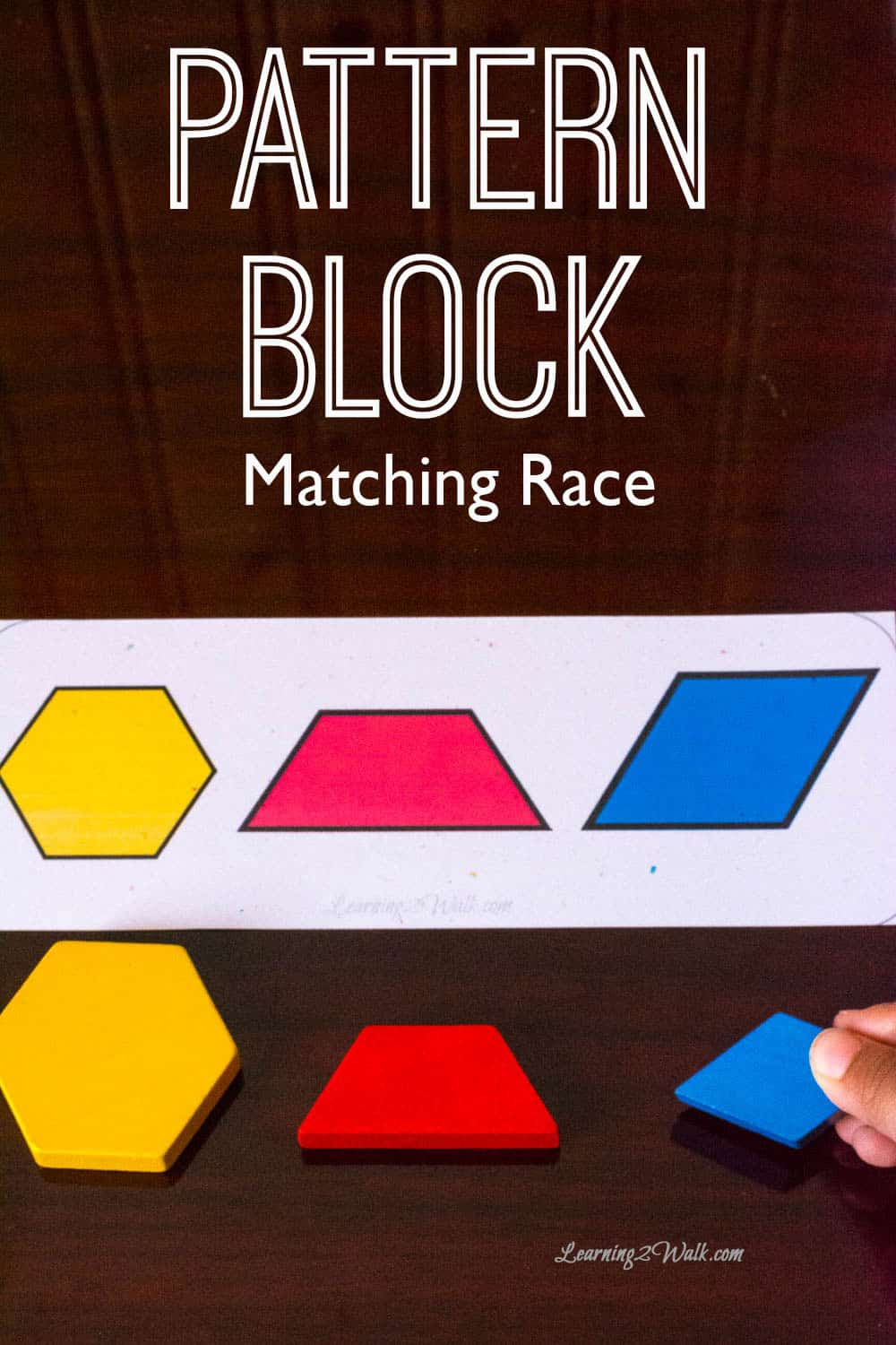 These pattern block matching race cards are a sure way to help your kids work on mathcing patterns