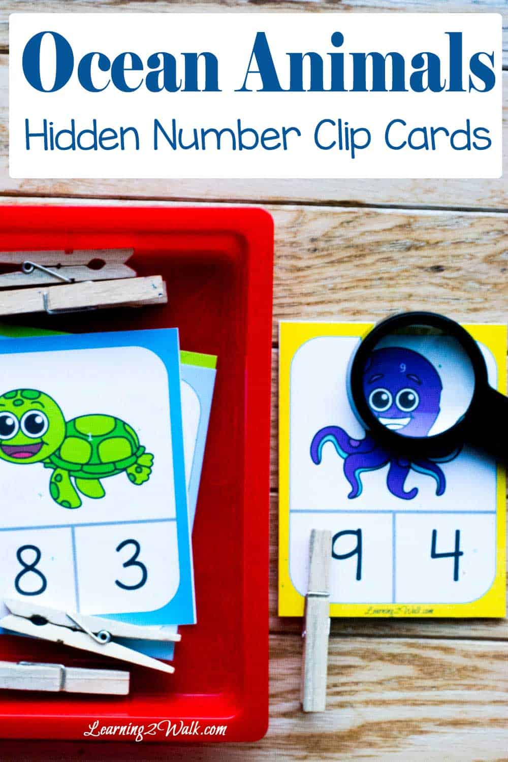 Loving these adorable ocean number clip cards for my son to practice his number identification as well as his fine motor skills