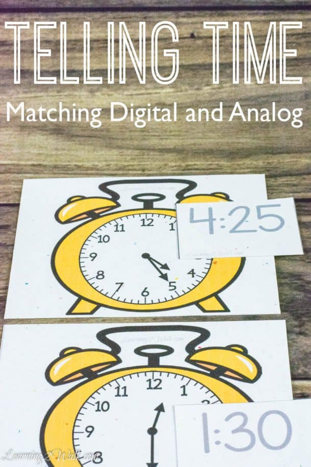 Telling Time- Matching Digital and Analog