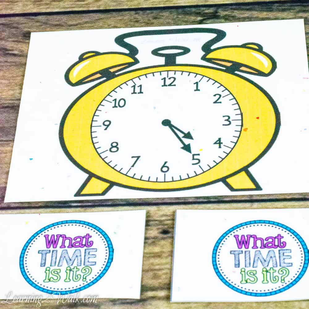 Use this fun telling time game to help your kids master reading a clock!