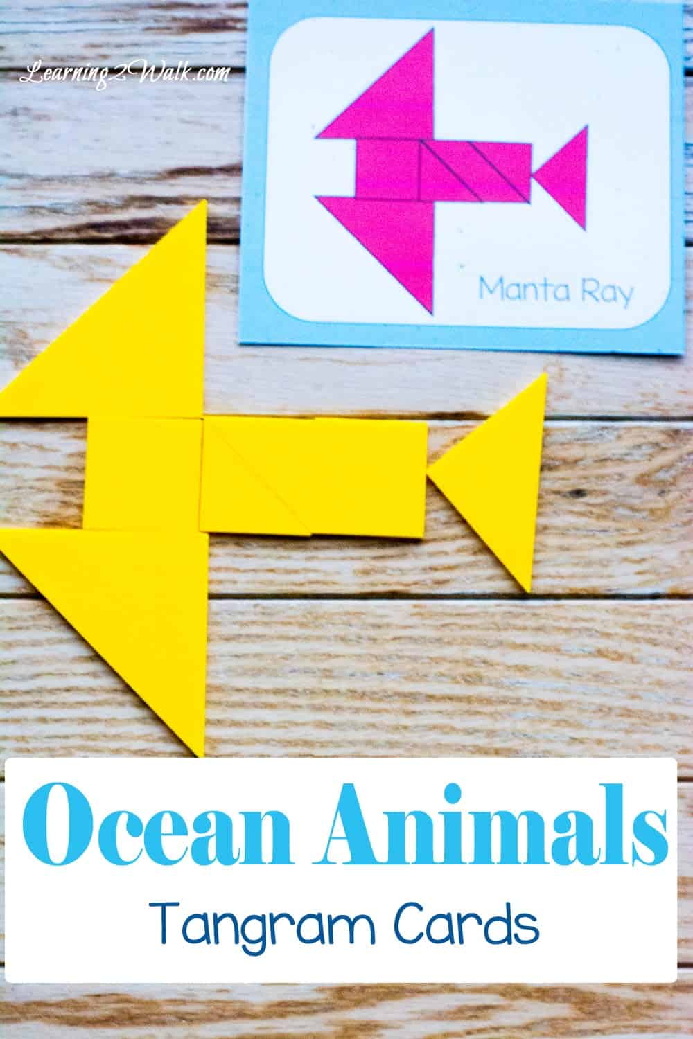 Ocean Animals Tangram Cards