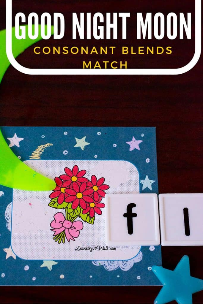 This was such a simple and yet effective hands on activity for kids to work on consonant blends with Good Night Moon