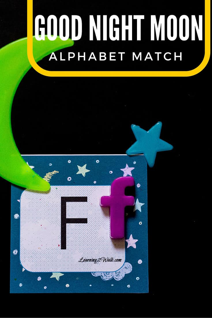 I love finding a great alphabet activity for my kids to try! This good night moon alphabet match activity was so much fun- my preschooler certainly thought so