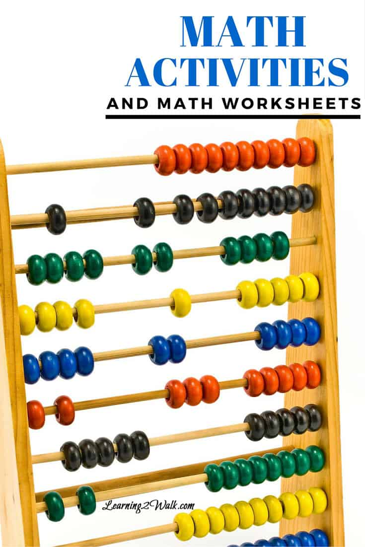 math worksheet : math worksheets and math activities  learning 2 walk : Math Activities Worksheets
