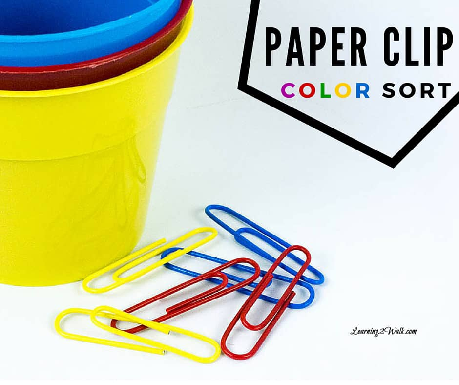 I love finding a great color activity for my kids. This paper clip color sort activity is a quick and easy preschool math activity that my son loved.