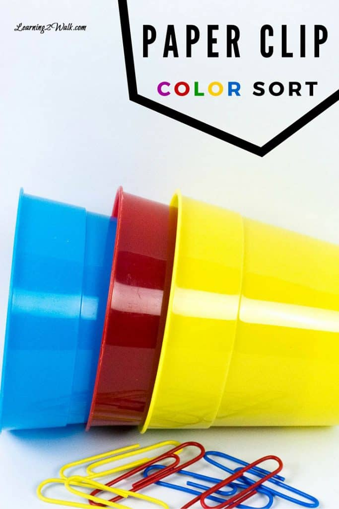 I love finding a great color activity for my kids. This paper clip color sorting activity is a quick and easy preschool math activity that my son loved.