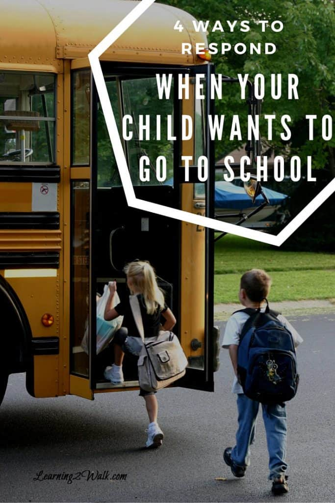 So your homeschool child wants to go to school? What do you do? Here are 4 ways you could respond to your child when they ask.