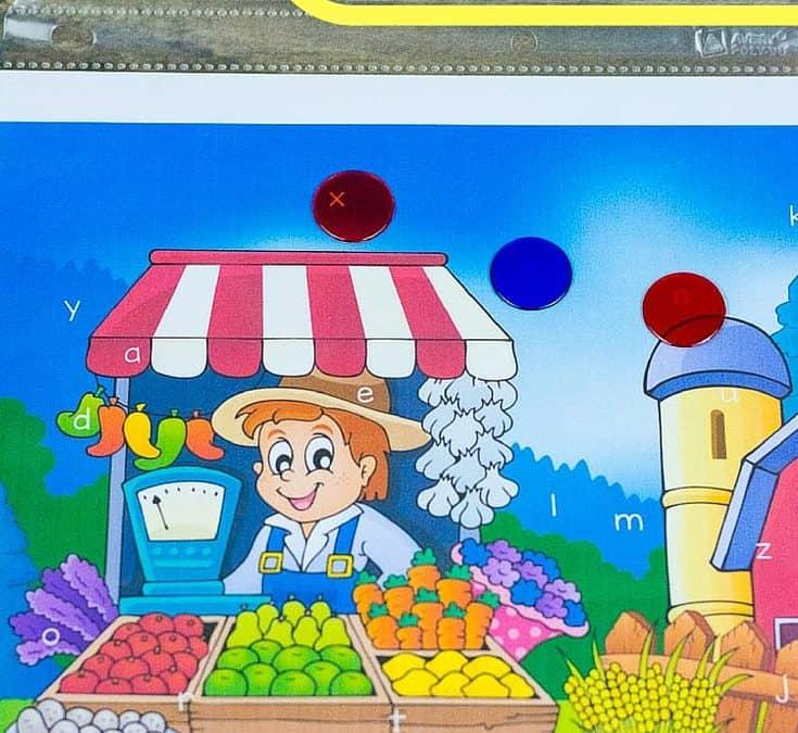 Fruit Preschool Letter Worksheets: Find the Hidden Alphabet
