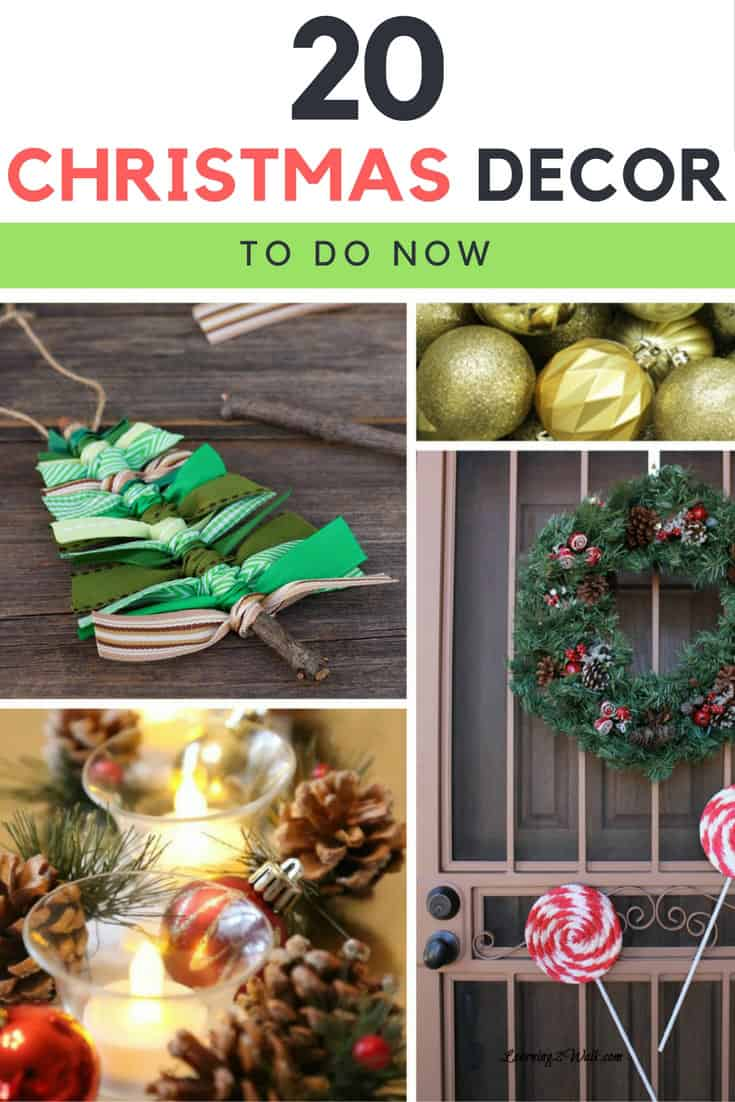 I will have my Christmas decorations planned out this year. I will not fall behind. I will try a few of these 20 Christmas decor ideas.