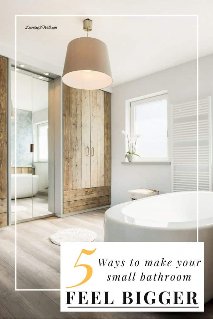 5 ways to make a small bathroom feel bigger - How to make a small bathroom look larger ...