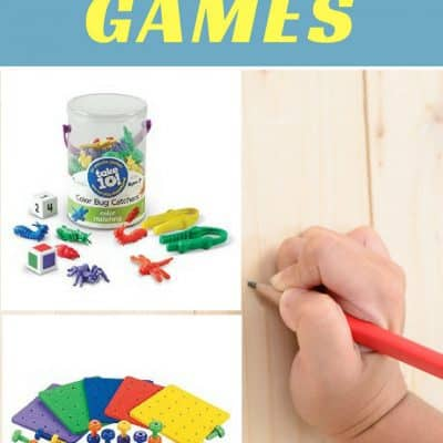 Fine Motor Tools and Games for Pencil Grasp Development