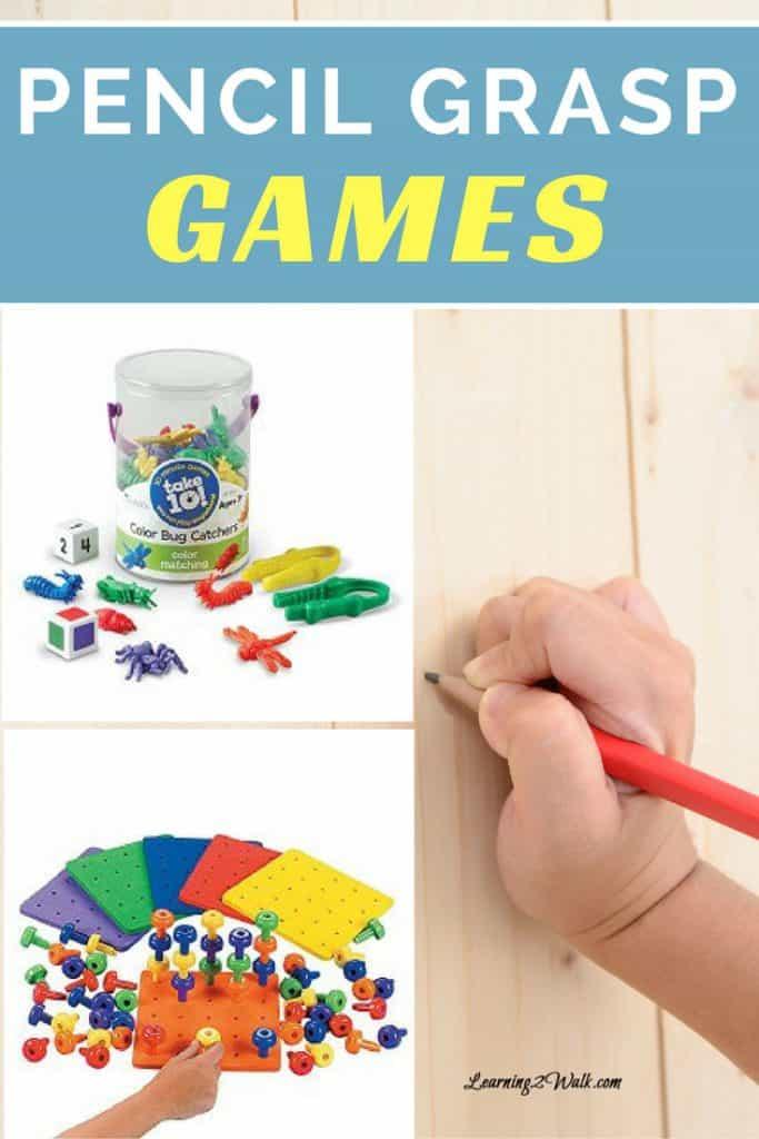 games for pencil grasp development ideas