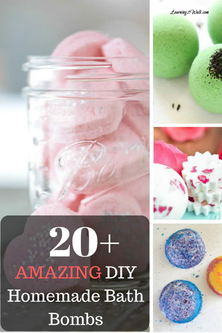 20+ Amazing DIY Homemade Bath Bombs