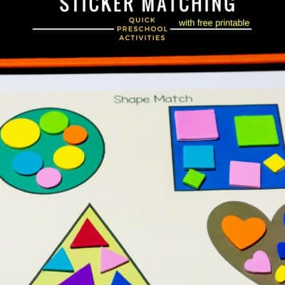 Basic 2D Shapes Sticker Matching