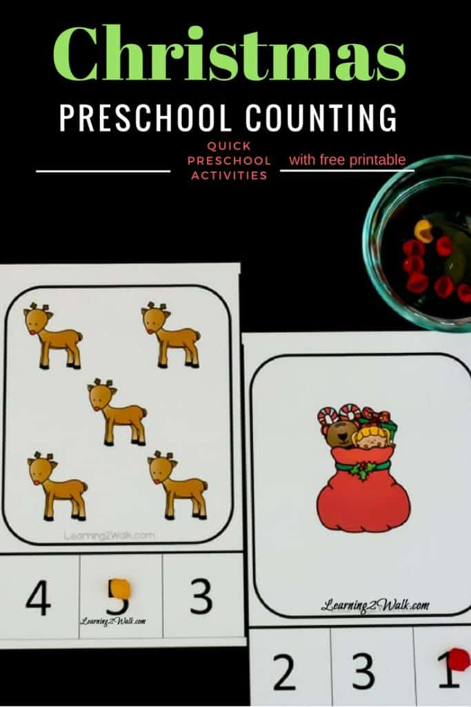 These Christmas preschool math free printables were such a time saver. All I had to do was print these free preschool worksheets and hand them to my preschooler for a quick number learning activity. #christmaspreschoolmath #christmaspreschoolmathfreeprintables #freeprintablespreschoolmath