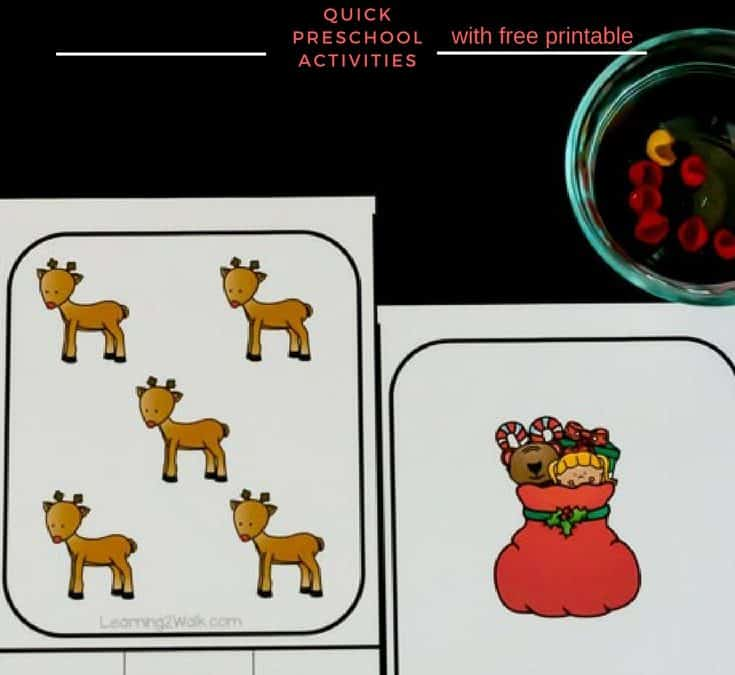 Quick and Easy Christmas Counting Activity for Your Preschooler
