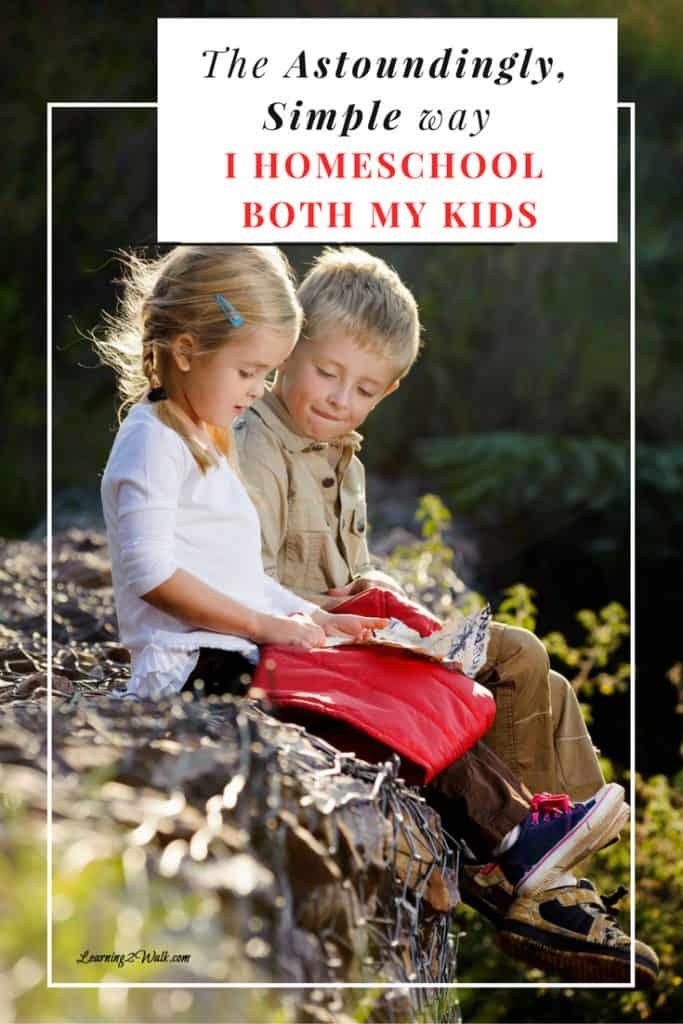 How do you homeschool both kids? I won't lie, it took a lot of trials and errors before we came up with our simple method that I am happy to share.