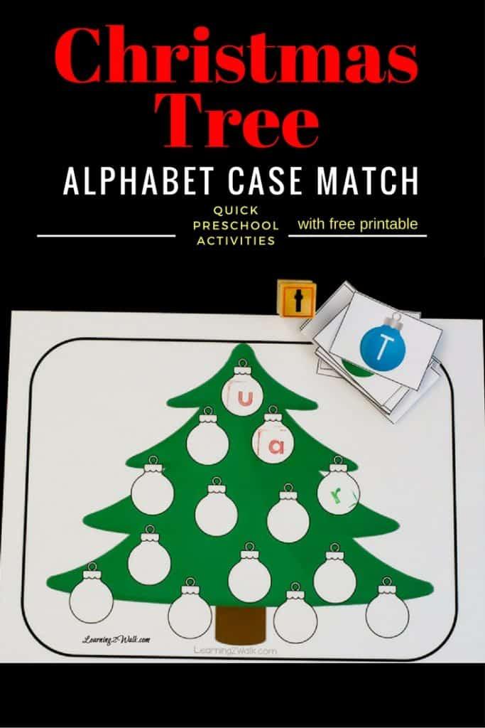 christmas tree alphabet stamping image
